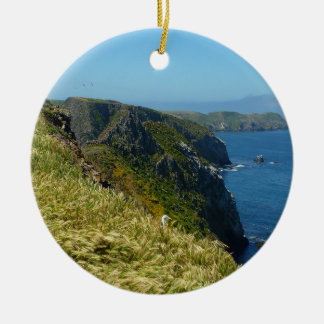 Anacapa's Inspiration Point II in Channel Islands Ceramic Ornament
