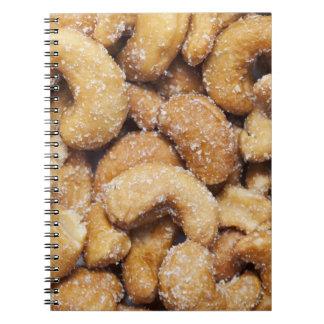 Anacardos asados miel cuaderno