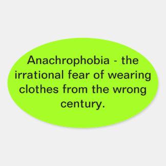 anachrophobia oval sticker