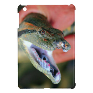 Anaconda snake jaws open exposing large fangs cover for the iPad mini