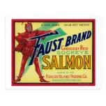Anacortes, etiqueta del caso de los salmones de tarjeta postal