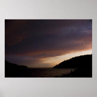Anacortes Island and Burrows Bay Sunset Print
