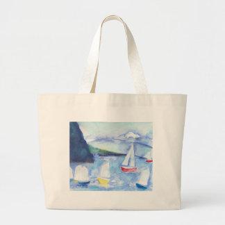 Anacortes Sailboats Large Tote Bag