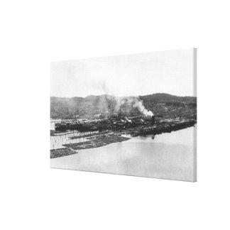Anacortes, WA View of Morrison Mill Photograph Canvas Print