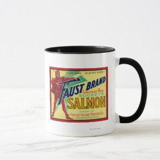 Anacortes, Washington - Faust Salmon Case Label Mug