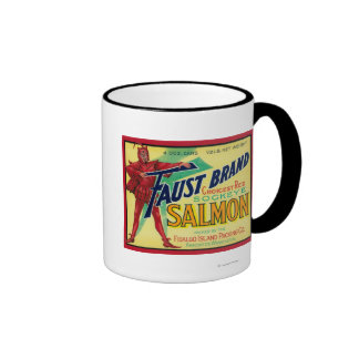 Anacortes Washington - Faust Salmon Case Label Coffee Mugs
