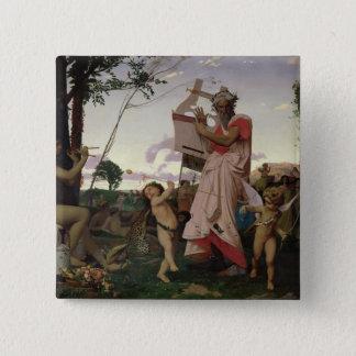 Anacreon, Bacchus and Aphrodite, 1848 Button