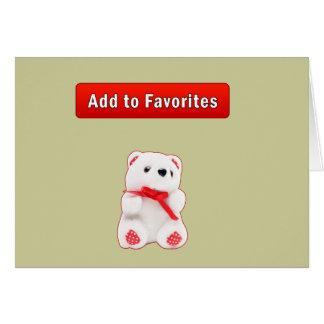 Añada a los favoritos tarjeta de felicitación