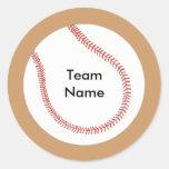 Añada a los pegatinas conocidos del béisbol del etiquetas redondas