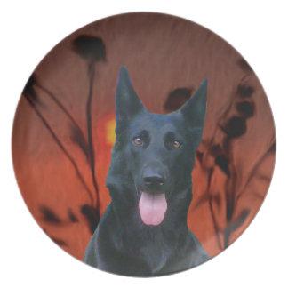 Añada a mi mascota a la placa del país plato de cena