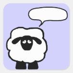 Añada a sus propios pegatinas de las ovejas del pegatina cuadradas personalizada
