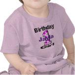 Añada camisa del chica del cumpleaños del nombre d