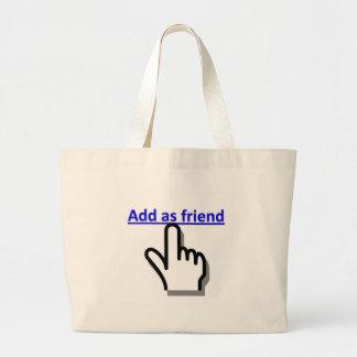 Añada como amigo bolsa de mano