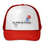Añada como amigo gorra