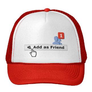 Añada como amigo gorras