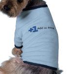 Añada como amigo - más uno camisetas mascota