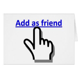 Añada como amigo tarjeta de felicitación