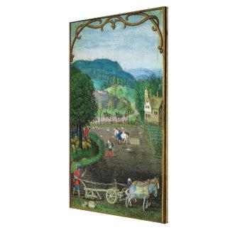 Añada el 18855 de octubre: arando y sembrando, de  impresión en lienzo estirada