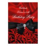 Añada el blanco rojo del negro del damasco de la invitacion personalizada