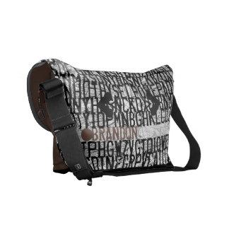 Añada el bolso conocido de Brown del código del al Bolsas Messenger