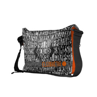 Añada el bolso conocido del naranja del código del bolsas messenger