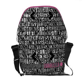 Añada el bolso conocido del rosa del código del al bolsa messenger