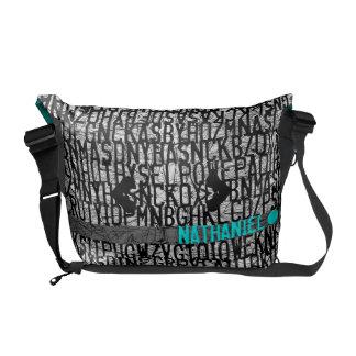 Añada el bolso conocido del trullo del código del  bolsa de mensajeria