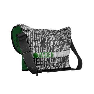 Añada el bolso conocido del verde del código del a bolsas messenger