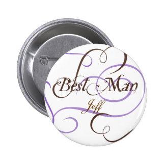 Añada el botón conocido del boda de su mejor hombr