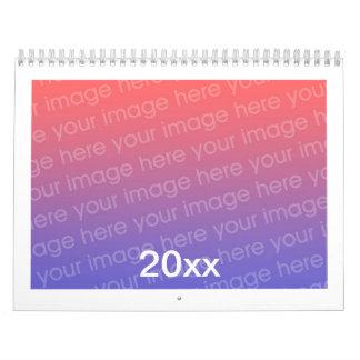 Añada el calendario impreso personalizado de la