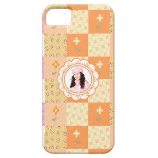Añada el caso floral del iPhone 5 del remiendo de iPhone 5 Funda