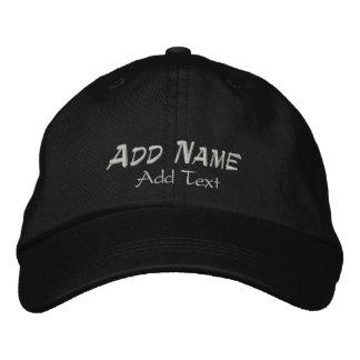 Añada el casquillo el gorra bordados puntada del c gorras de beisbol bordadas