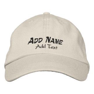 Añada el casquillo el gorra bordados puntada oscur gorras de beisbol bordadas