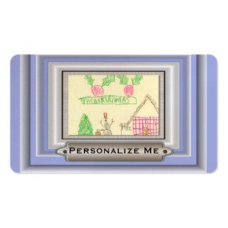 Añada el dibujo del niño con el marco de encargo tarjetas de visita
