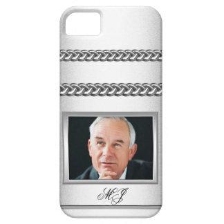 Añada el gris blanco de plata de la imagen de cade iPhone 5 Case-Mate carcasa