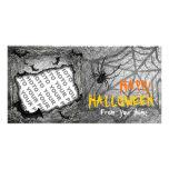 Añada el horizonte de la araña de los palos de la  tarjeta con foto personalizada