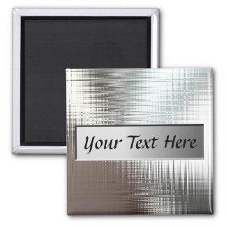Añada el imán de la placa de metal del texto
