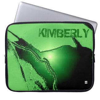 Añada el látex verde conocido graban en relieve la manga portátil
