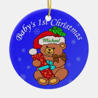 Añada el nombre del bebé aquí ornamento de navidad