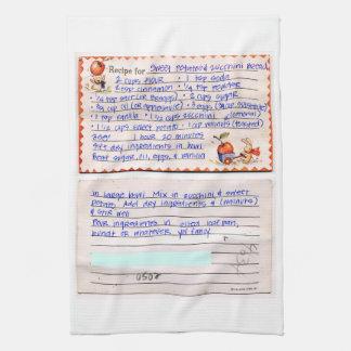 Añada el personalizado preferido de la receta de toalla
