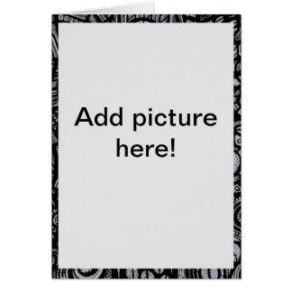 Añada el tblack de la imagen y la frontera african tarjeta de felicitación