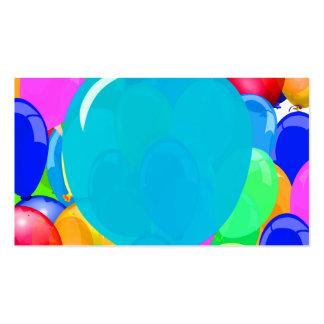 Añada el texto al globo tarjetas de visita