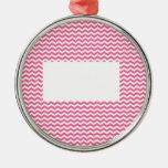 añada el texto o la imagen a este galón rosado adorno de navidad
