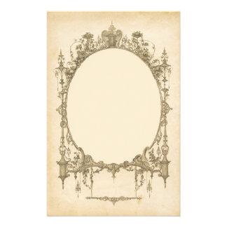 Añada el texto y la imagen al marco adornado del v papeleria de diseño