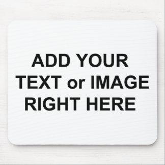 Añada el texto y las imágenes para personalizar lo tapetes de ratón