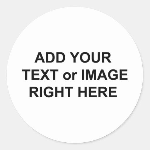 Añada el texto y las imágenes para personalizar pegatinas redondas