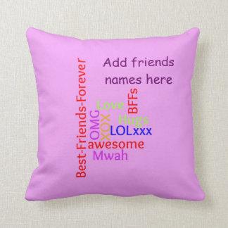 Añada la almohada de TagCloud de los mejores amigo