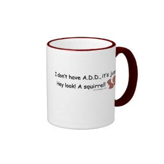 AÑADA la ardilla Tazas De Café