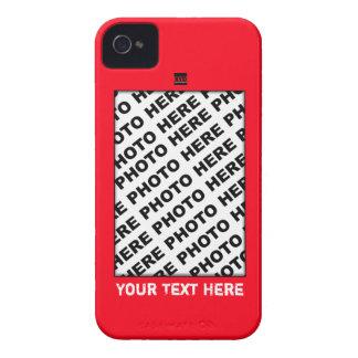 Añada la caja intrépida roja de Blackberry de la Case-Mate iPhone 4 Funda