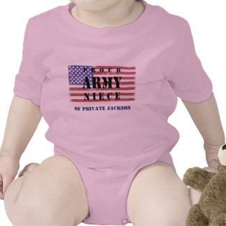 Añada la camisa de Name Proud Army Niece de su tío